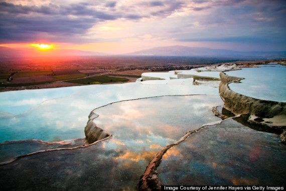 "Take one look at #Pamukkale and you'll understand why it means ""cotton castle."" It looks like it comes right out of a fairytale."