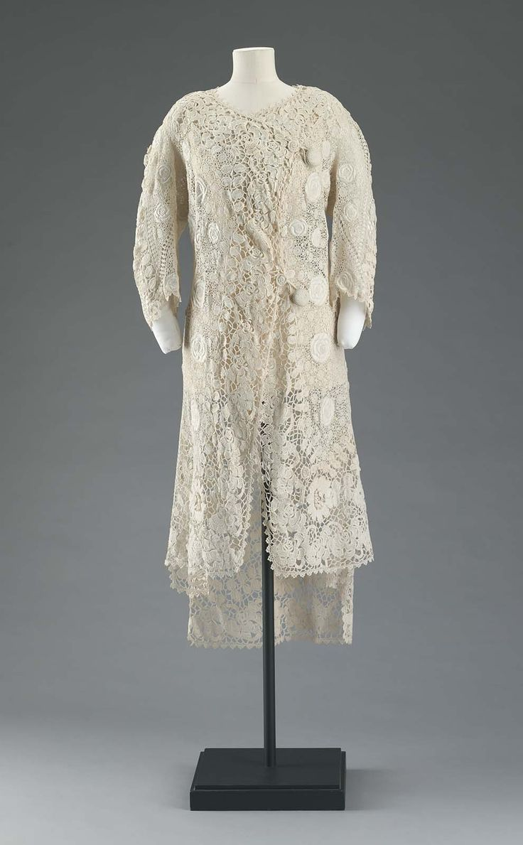 Fashion 1910 to 1920 - 1910 1920 America Woman S Jacket Cotton Crochet Lace With Embroidered Inserts
