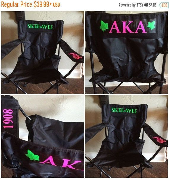 ON SALE AKA Tailgating Chair by GlitterTees on Etsy