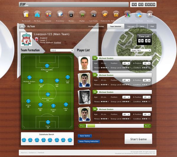 Football manager Live!!! by Manish Goel, via Behance