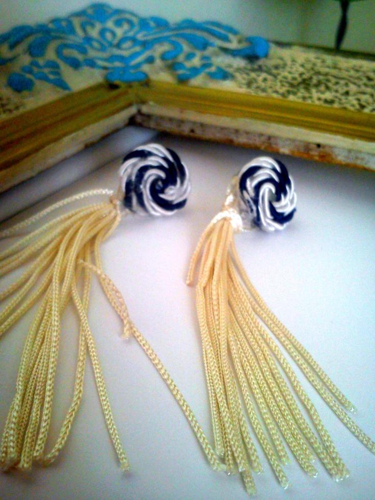 navy earings
