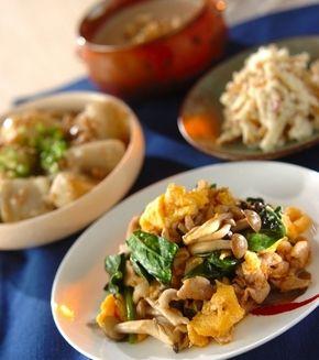 豚肉とキノコの卵炒め」の献立・レシピ - 【E・レシピ】料理のプロが ... 豚肉とキノコの卵炒めの献立