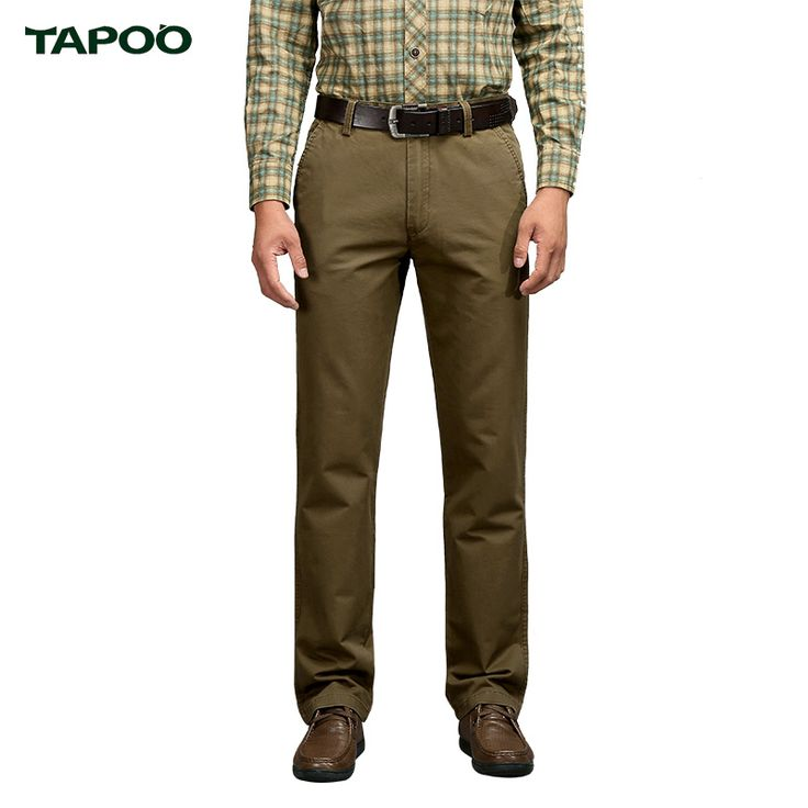 TAPOO 2017 Hot Sale Men's Business&Leisure Brand Pants Straight Style Top Quality Plus Size 30-42 MKX1218