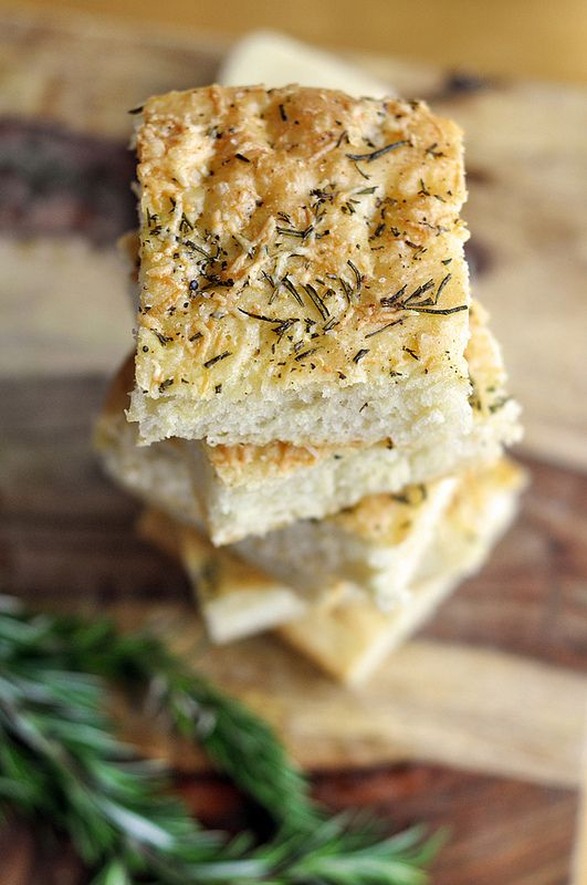 Rosemary Parmesan Focaccia......baking this to go along with the Spicy Sausage and Kale Soup. YUMMMMO!