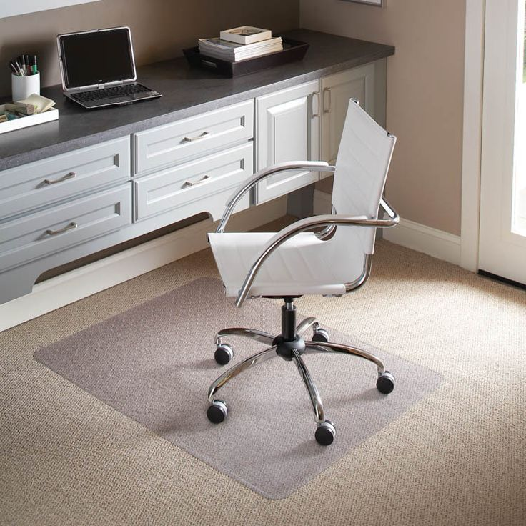 """46"""" x 60"""" Chair Mat for Low Pile Carpet by ES Robbins"""