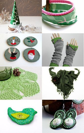 Here are some Etsy finds in deep greens.  Click on an item to see more details!
