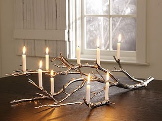 Branch candleholder: DIY directions