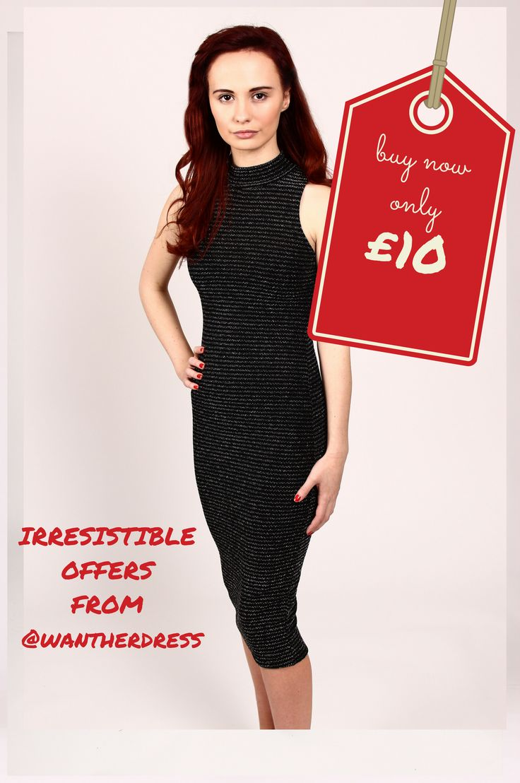 super stretchy black dress with silvery touch perfect for Christmas
