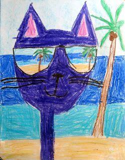 Pete the Cat   Art class ideas