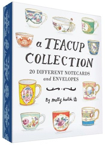 Adorable notecards of teacup illustrations by Molly Hatch
