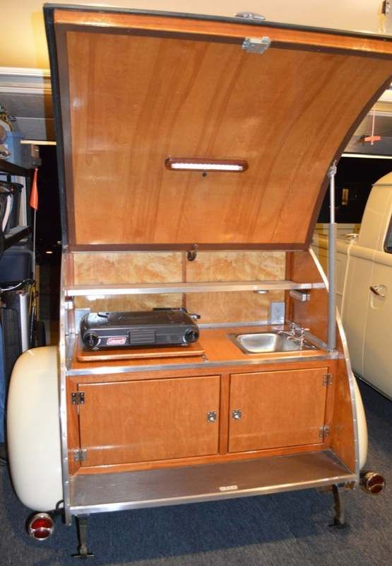 i wanted to show you this all wood hand built teardrop camper for sale finished in it was a six year project even the trailer frame was custom built