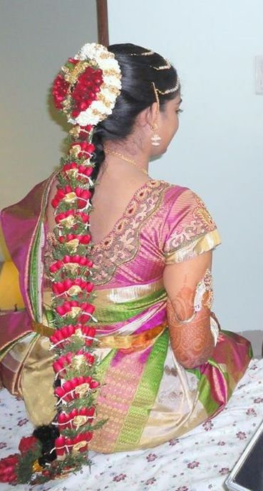 Bridal hairstyles for long hair + tamilnadu : Best images about hairstyle on