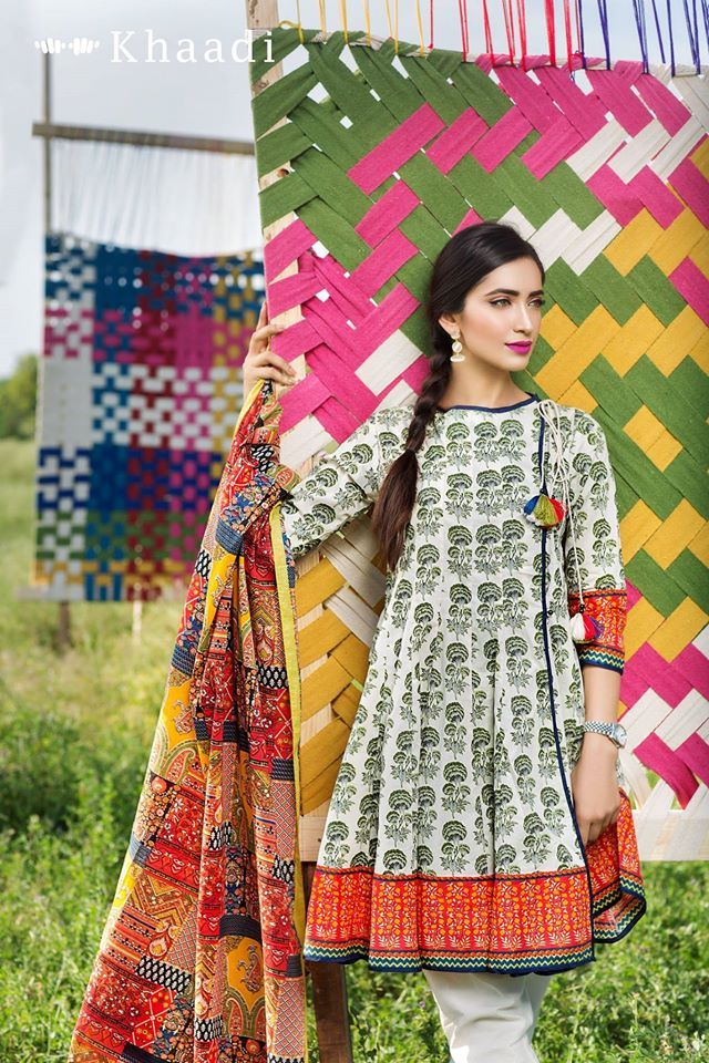 Khaadi Cambric 3 Piece Unstitched Suits For Eid 2016 17