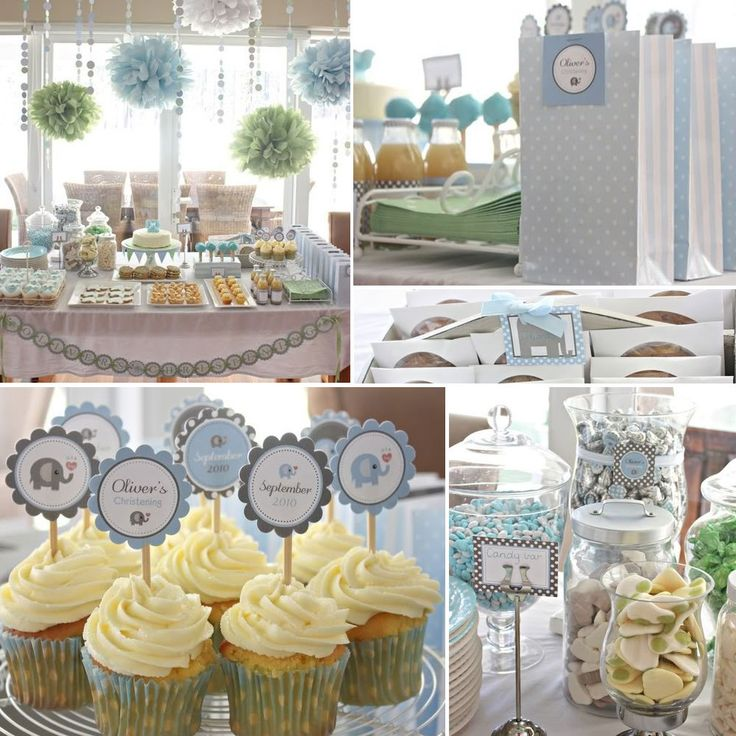 Elephant full printable party pack baptism for Baby dedication decoration ideas