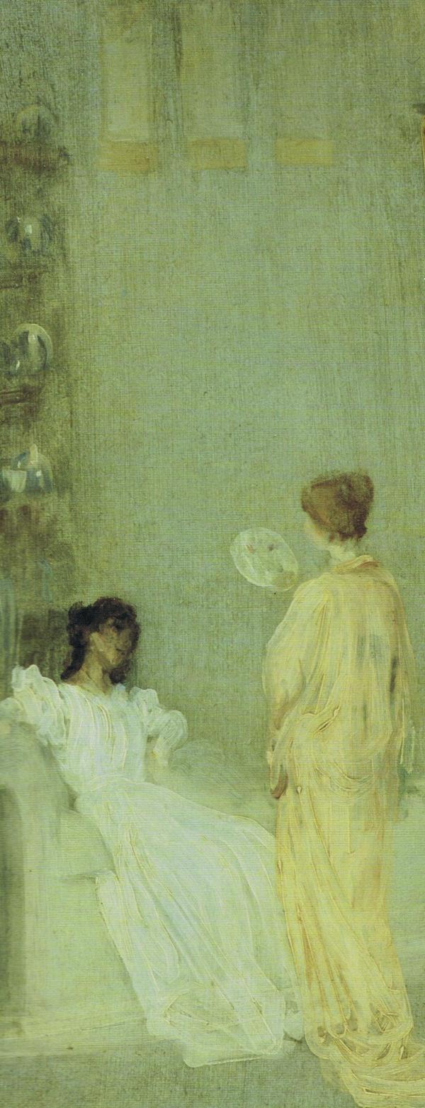 "detail - ""The Artist in his Studio"" ~ Whistler c.1865"