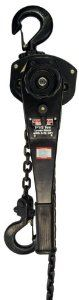 Maasdam  48610 Lever Hoist 1-1/2 Ton, Black by Maasdam. $147.50. From the Manufacturer                This Maasdam Lever Hoist comes with Automatic brake system holds load in any position, Freewheeling feature without load for quick load attachment,  All steel construction with durable powder-coat finish,  Drop forged hooks with heavy-duty safety  latches swivel 360° for easy rigging,  Conforms to ANSI/ASME B30.21-1999, Lift 5 feet, Hook size 1-3/8 inch, Handle length 16.75 inc...