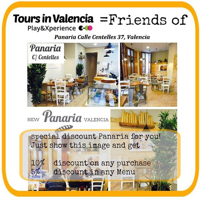 Buenos días! Planning for a good #saterday #breakfast? My friend opened a bakery #panaria in #Valencia and wants to give you a #discount ;)