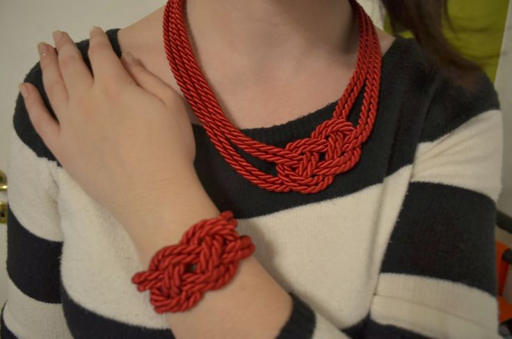 Nautical Rope Necklace and Bracelet ~ Stuff and Spice