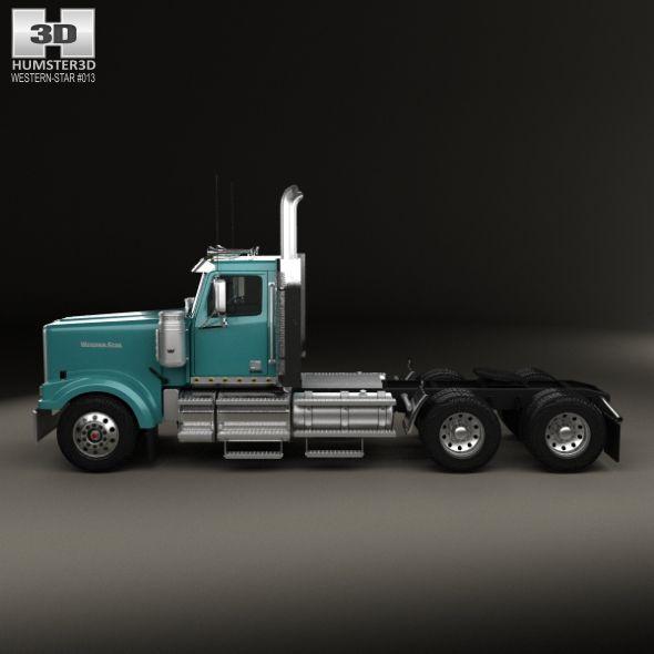 Western Star 4900 Sf Ex Day Cab Tractor Truck 2015 Trucks Model