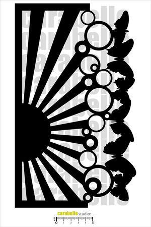 Masque fleurs Stencil Papillon - Art Mask - CARABELLE STUDIO