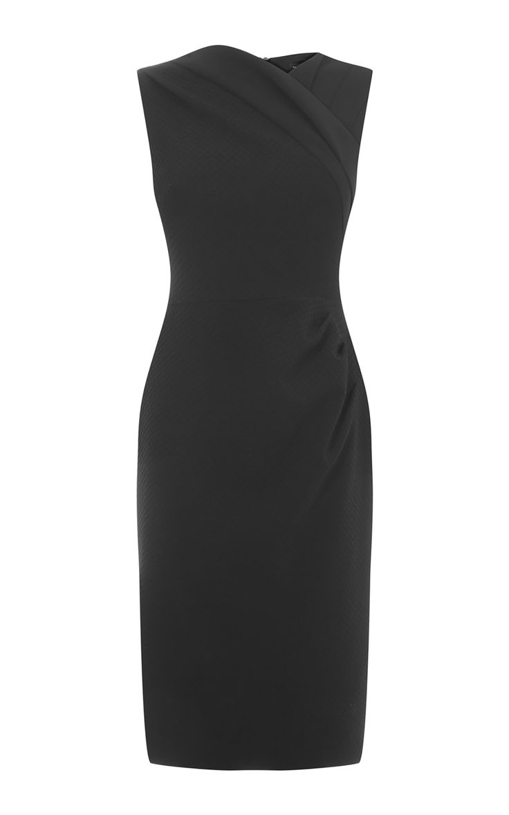 Karen Millen, DRAPED PENCIL DRESS Black