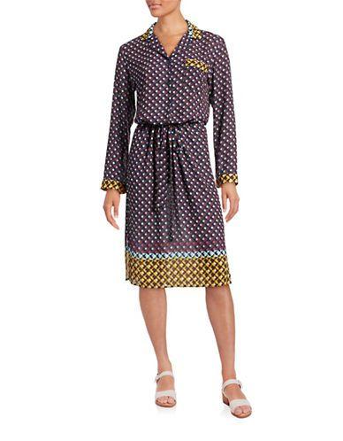 CLOVER CANYON Clover CanyonInverted Spots Shirt Dress. #clovercanyon #cloth #