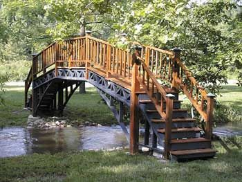 our homemade footbridge leans toward the 39 asian 39 design because of the shallow banks whether. Black Bedroom Furniture Sets. Home Design Ideas