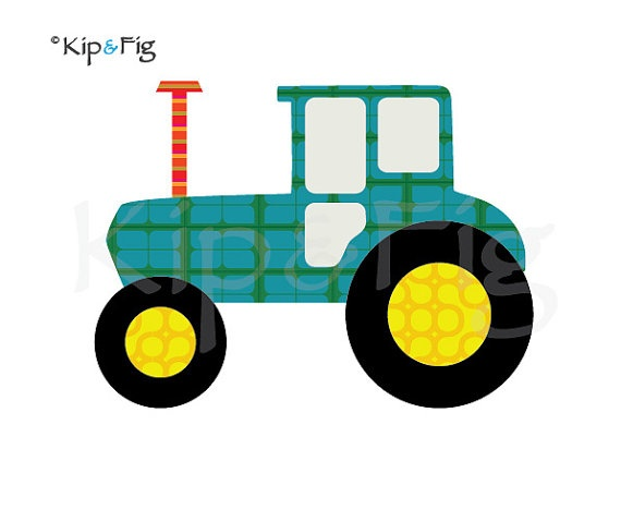 Tractor applique template  PDF applique pattern by KipandFig, £2.00