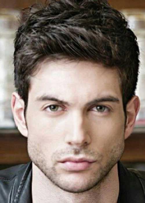 Dark Brown Thick Hair For Guys Boy Haircuts Pinterest