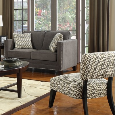 Emerald Home Furnishings Carlton Nail Head Loveseat  636. 69 best images about Living Room on Pinterest   Upholstery  Nail