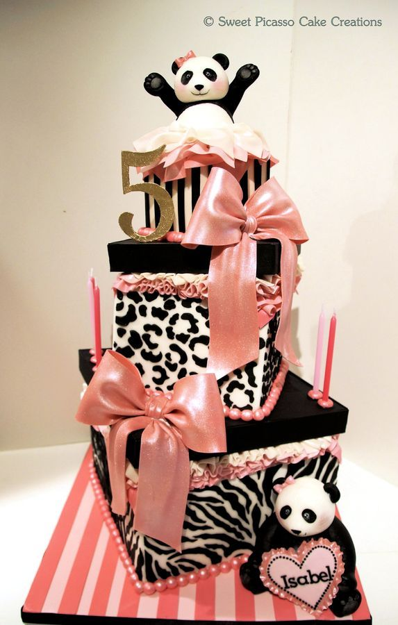 cake for little girl - panda ...someone make me this cake for my 26th birthday please >_