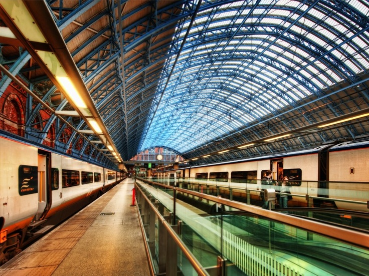 The London train station before the Chunnel…