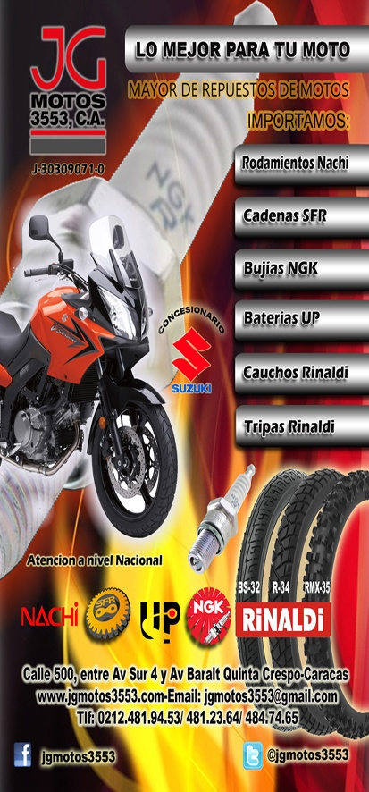 JG MOTOS 3553 C.A./ MOTOS AL MAYOR / CONCESIONARIO DE MOTOS SUZUKI | Porlavia.com