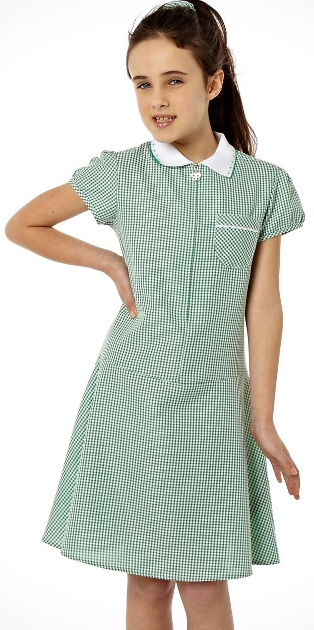 [!] Green School Summer Dress