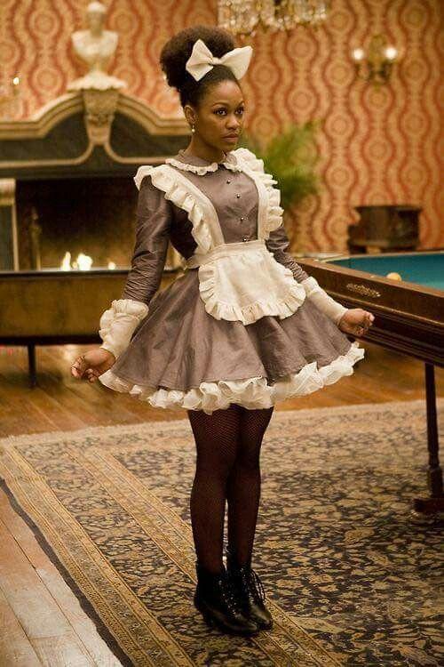 Afro lolita maid