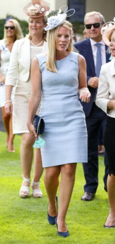 Autumn Phillips, July 26, 2014 | Royal Hats-Autumn Phillips attended the King George Meet at Ascot Racecourse