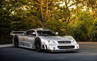 Scarica sfondi Mercedes-Benz CLK GTR, AMG Coupé, Supercar, auto sportive, auto tedesche, Mercedes