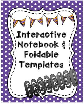 These blank foldables are perfect for your interactive notebooks and lapbooks!  These foladable templates can be used for any subject/topic you are teaching.  They come in different shapes and sizes with 3, 4, 5, and 6 tabs so you can mix and match to your curriculum.