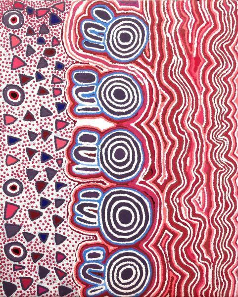 Mary Napangardi Gallagher, Mina Mina Jukurrpa, 76x61cm | Aboriginal Art | Art Ark - 1