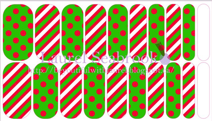 Elf Spots & Stripes #NAS #nailart #christmas #nailfashion #jamberry