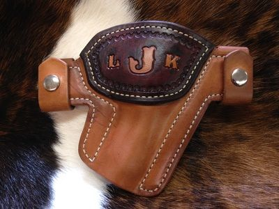 Snap Holster - Revolver, Contrasting Support Piece with Initials