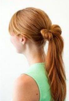 Peinado con lazo y cola de caballo -DIY