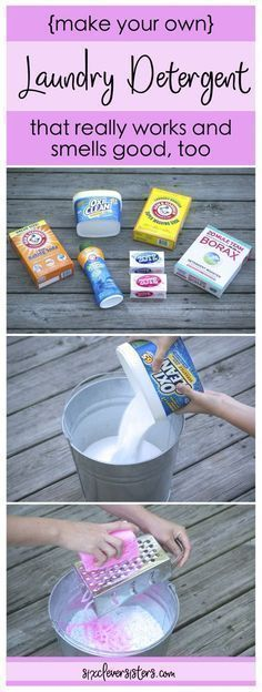 DIY Laundry Detergent | Make Your Own Laundry Soap | DIY Powdered Laundry Detergent | Laundry Soap Recipe | Laundry Soap Homemade | Laundry Soap | Laundry Soap Recipe Powdered | You guys, this stuff really works and smells super good, too. Check out the easy recipe on sixcleversisters.com. We were Tide only users until we started making this! #homemadesoap