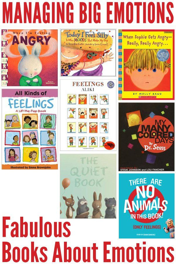 Fabulous Picture Books About Emotions. Great for initiating discussion with children about recognising and managing their emotions.