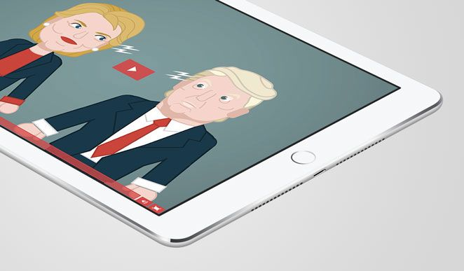 In unserem Erklärvideo über den US-Wahlkampf 2016 zwischen Trump und Clinton erfahren Sie spannende Fakten über die Kandidaten. #erklärvideo #explainervideo #videoboost