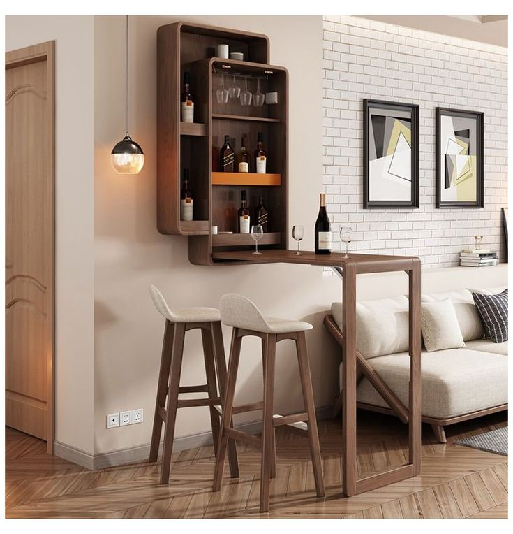 Nordic Folding Bar Table Home High Foot Simple Modern Wall Wine Cabinet Living Room Creative Partition Cabinet E Living Room Bar Modern Home Bar Home Bar Rooms
