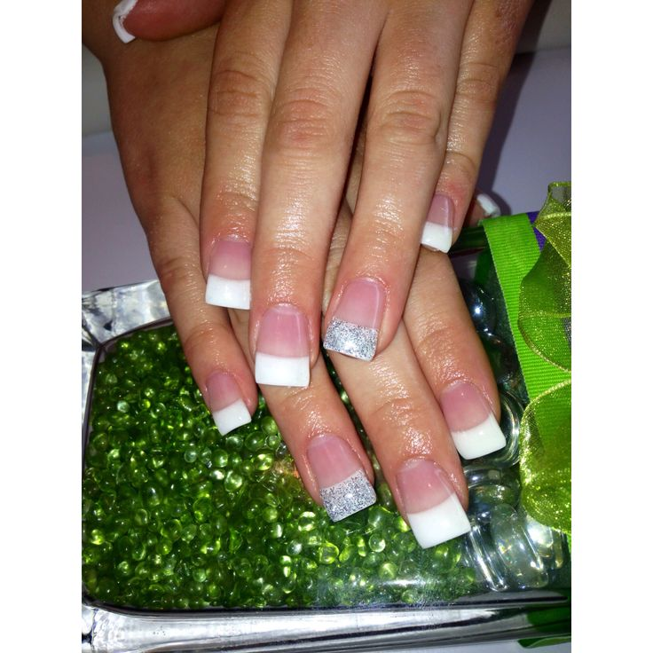 White and silver #nails