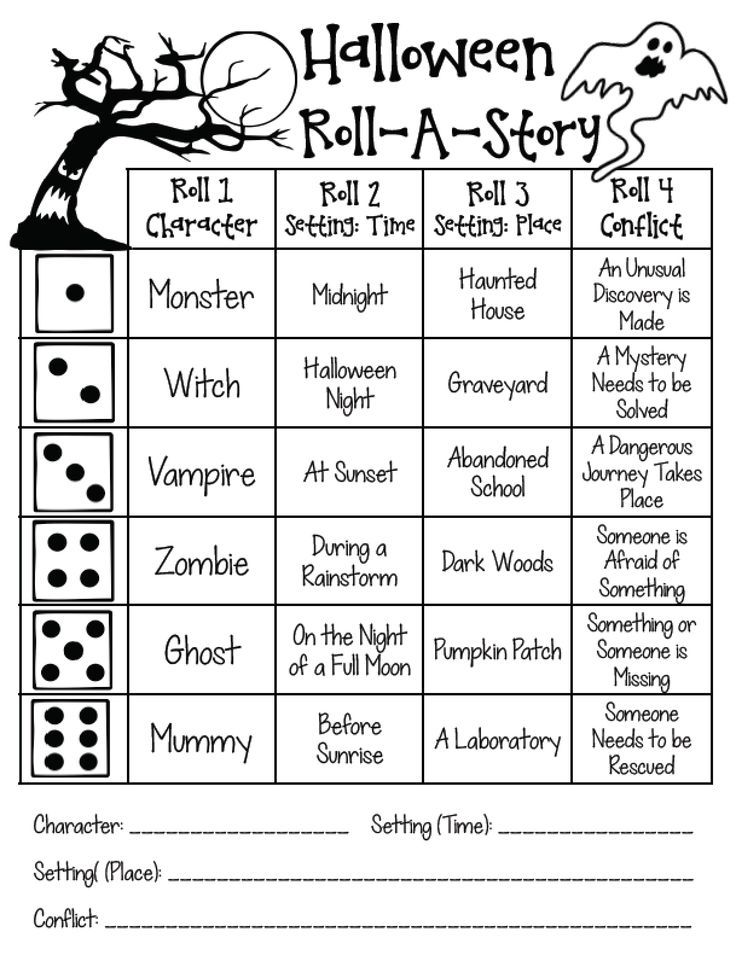 Halloween printables for 4th and 5th grade. Tons of ideas for math and language arts. Activities for writing, figurative language, and a variety of math skills.