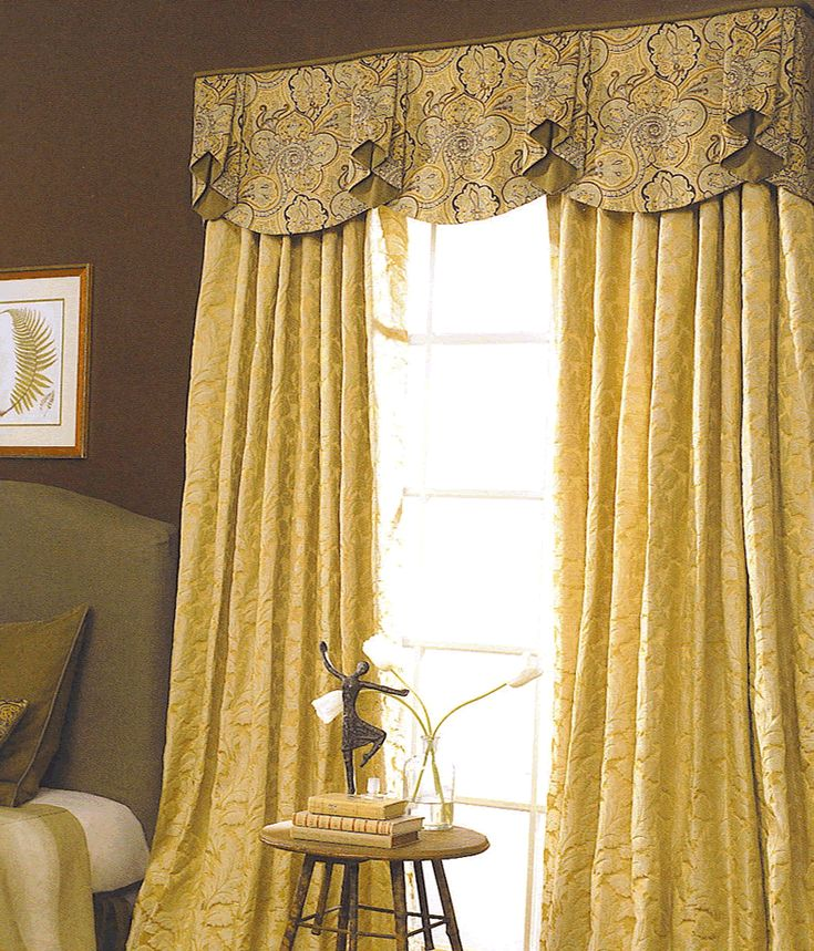 Drapery Ideas Shown Over Floor Length Draperies That