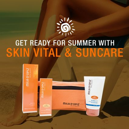 Get ready for Summer and protect your skin with our Skin Vital & Suncare pack! Packaged in a beautiful Mila d'Opiz toiletry bag.